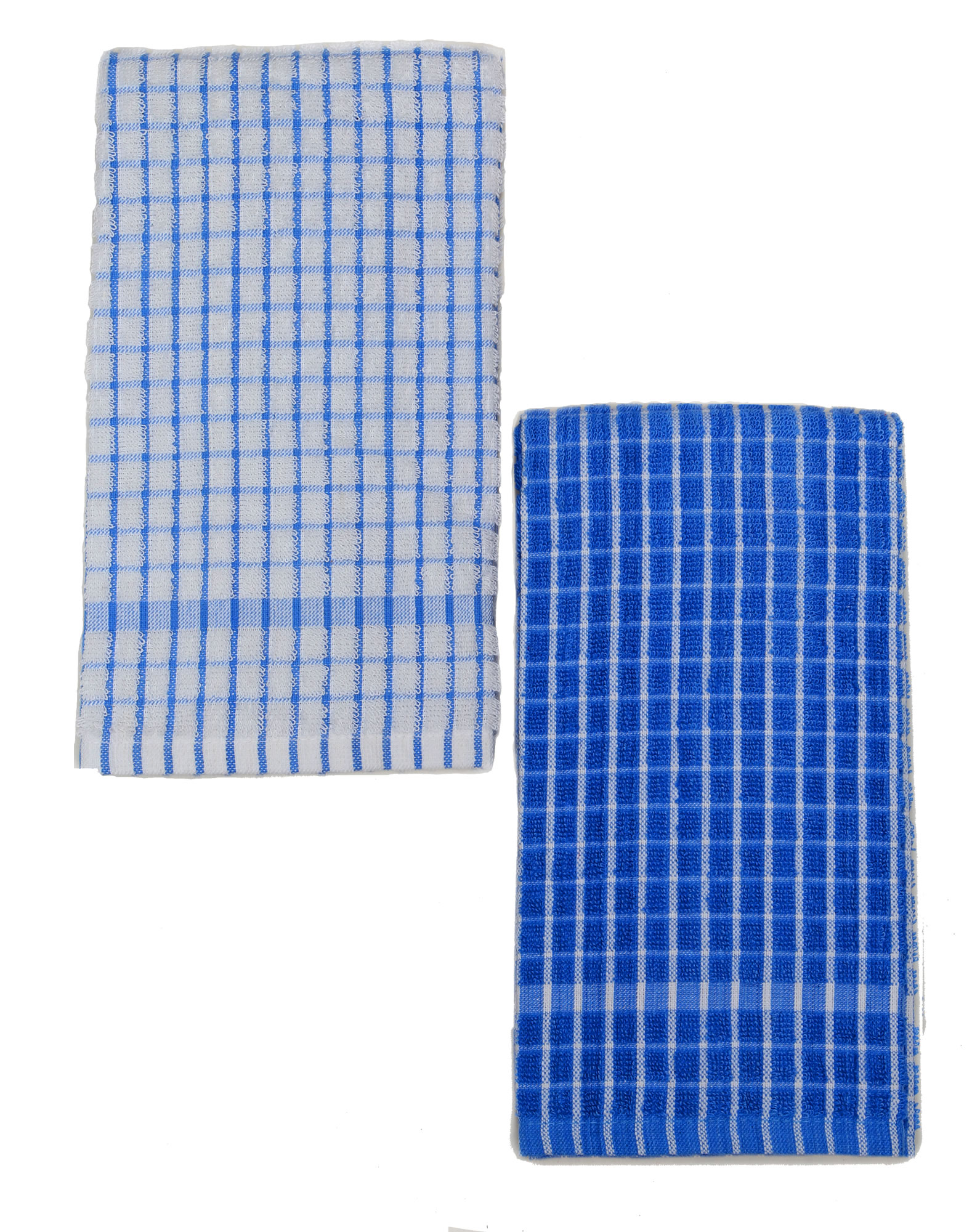 Blue and white kitchen towels - Kuk S Cuisine Kitchen Towels Set Of Two Mono Pattern Blue White