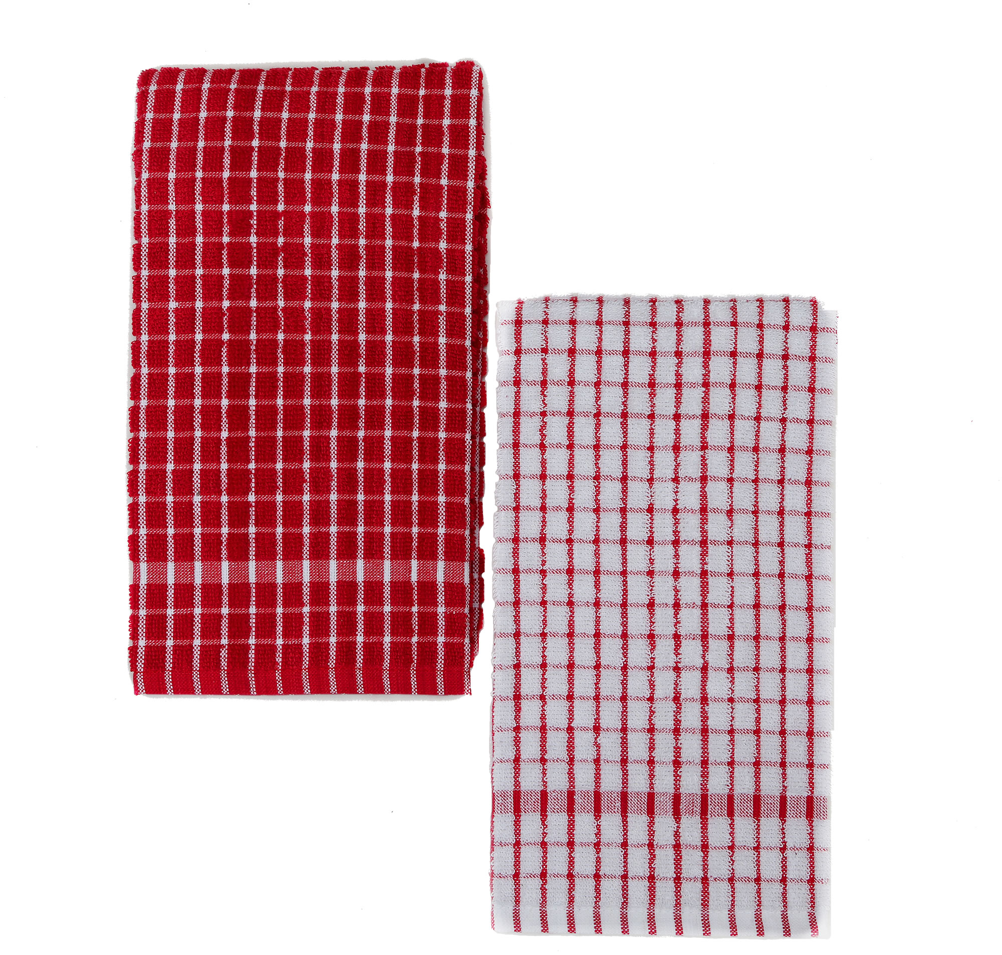 Genial Kuku0027s Cuisine Kitchen Towels (Set Of Two) Mono Pattern U2013 Red U0026 White