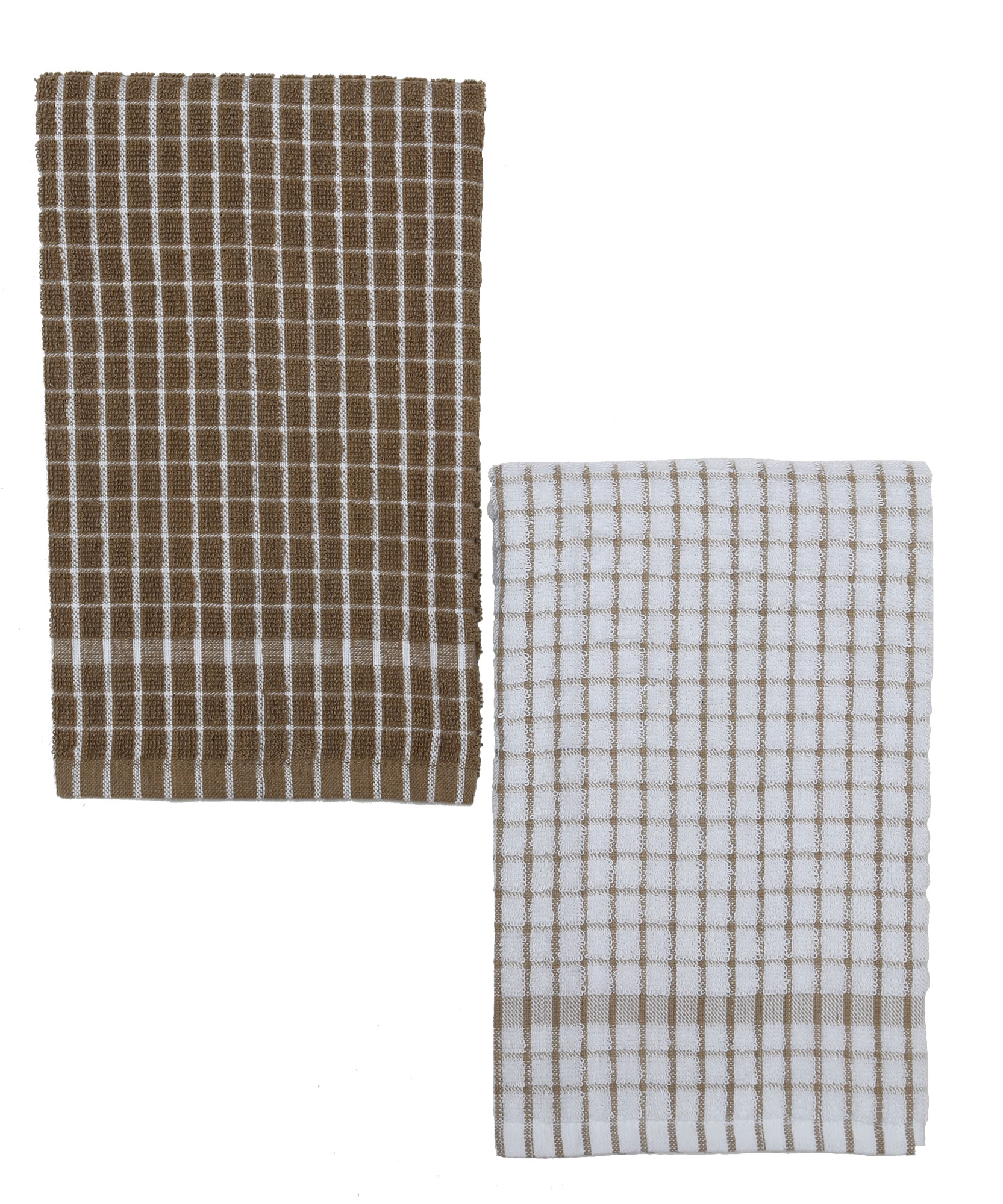 Kuk\'s Cuisine Kitchen Towels (Set of Two) Mono Pattern – Brown ...