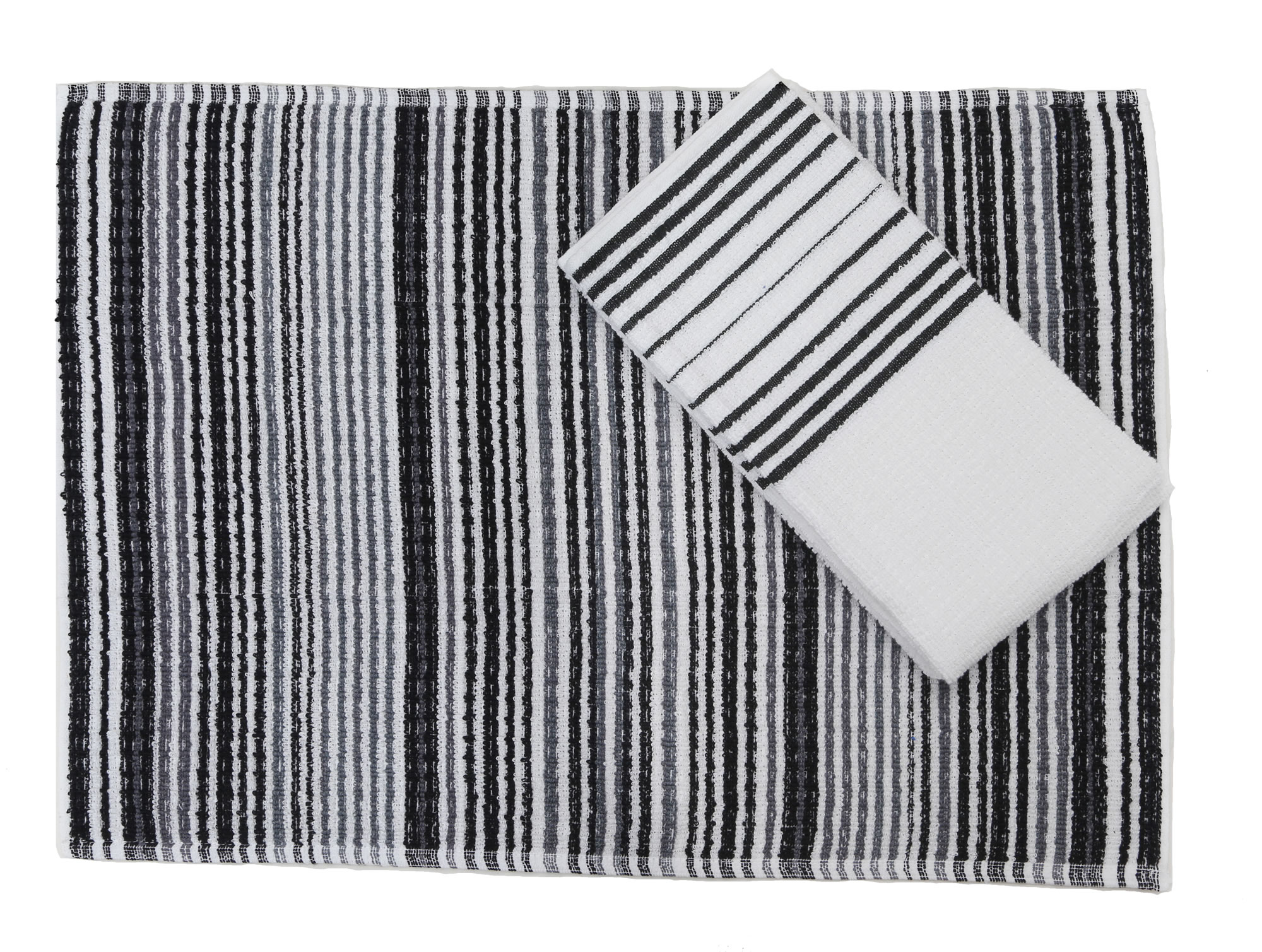 Kuk\'s Cuisine Kitchen Towels (Set of Two) Stripe Pattern ...